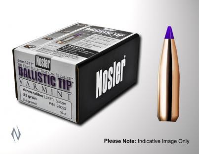 Nosler Ballistic Tip  224cal 55gr 250pk