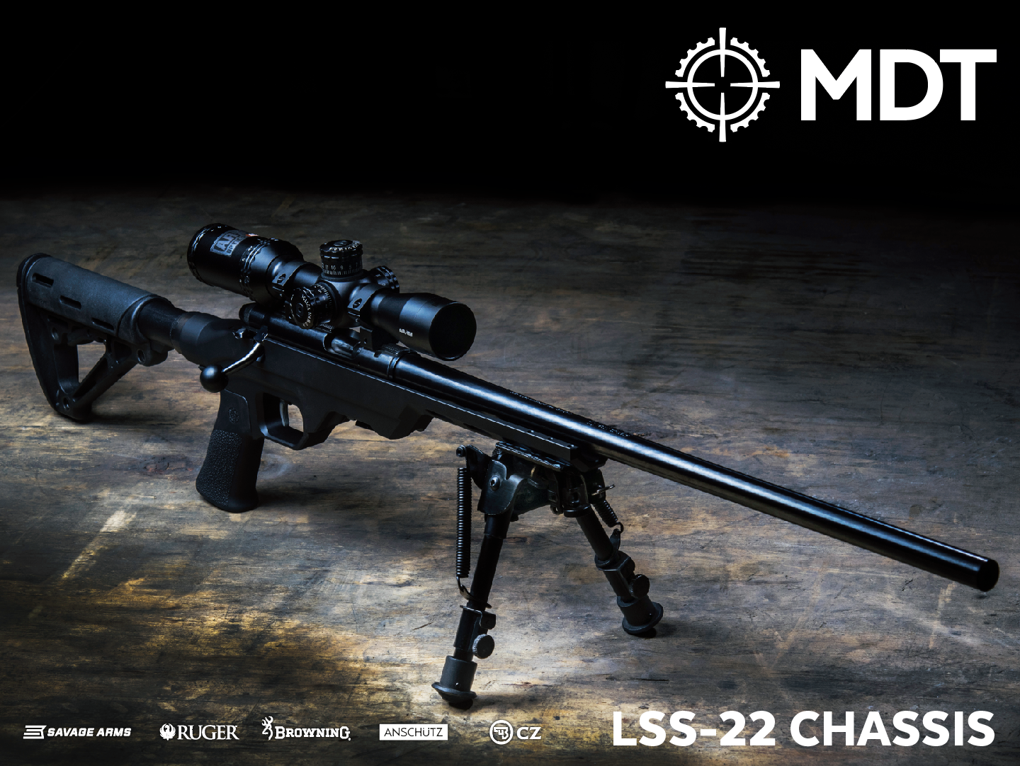 MDT LSS-22 Chassis in Black | Beaton Firearms